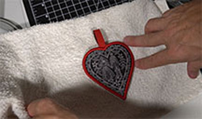 drying embroidery design