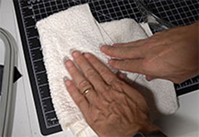 drying with towel