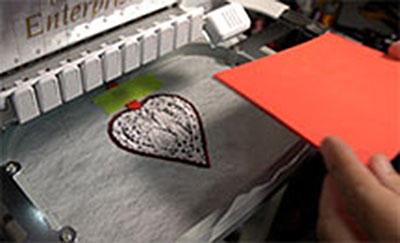 foam on embroidery