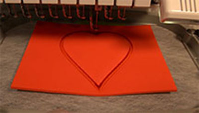 heart foam embroidery