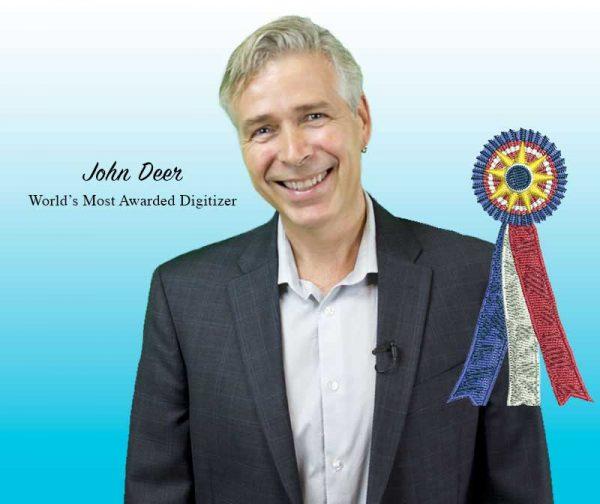 John Deer Embroidery Portrait