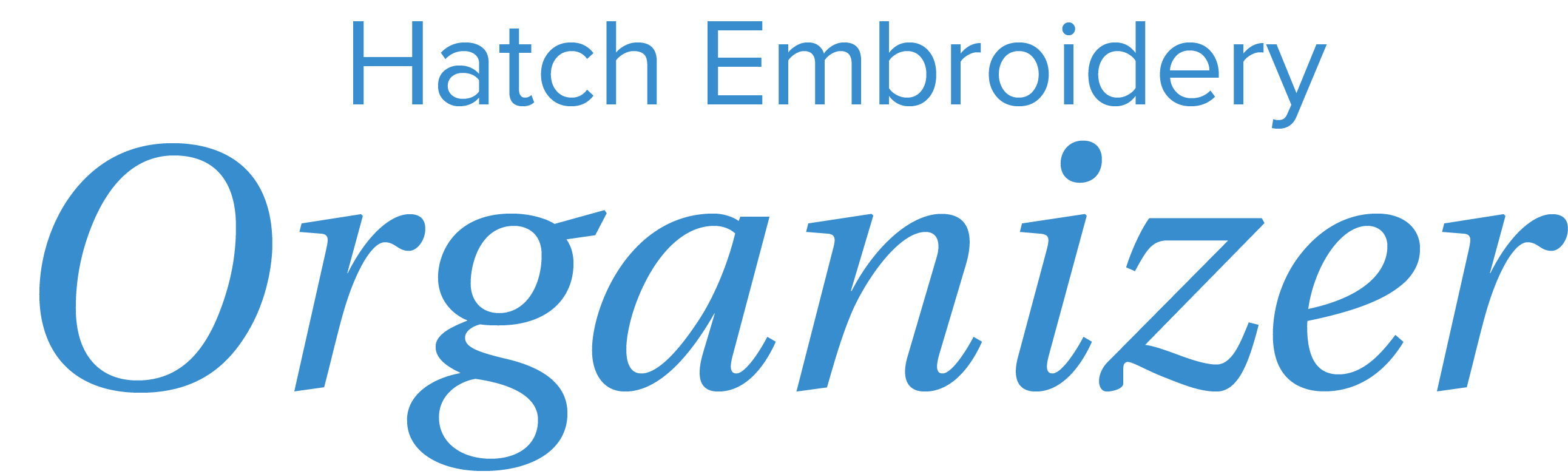 hatch embroidery organizer