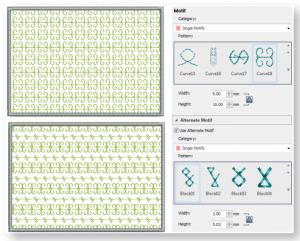 hatch 2 new alternating motif fills