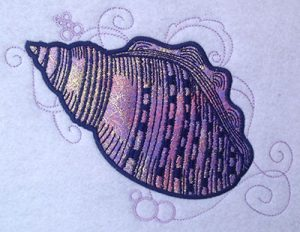 shell applique embroidery
