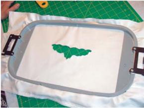 embroidering organza