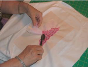 peeling organza