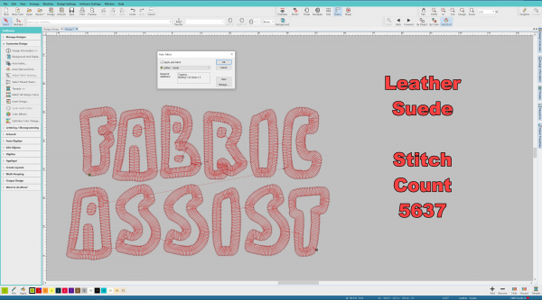 fabric assist leather