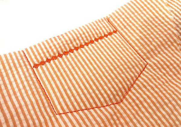 How to embroider a pocket