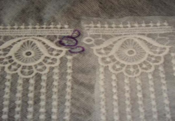 attaching continuous lace