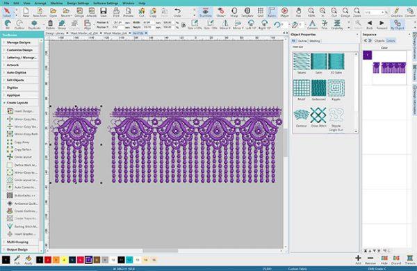 continuous lace software