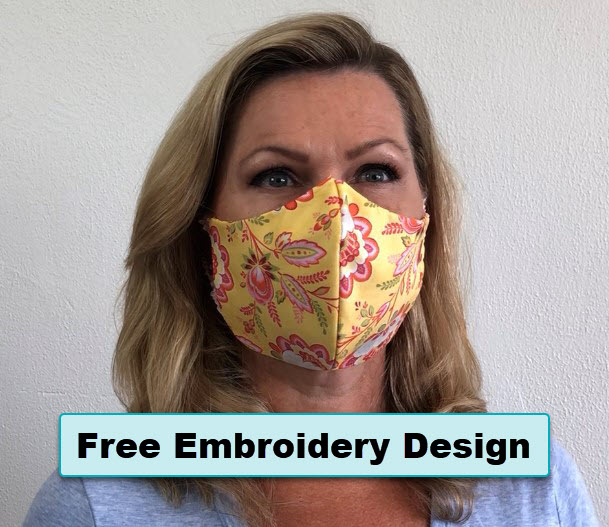 Free in the hoop embroidery face mask design