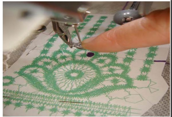 lace embroidery template