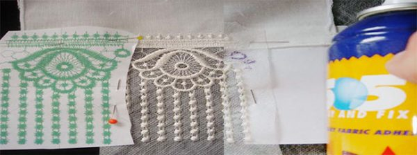 spray continuous lace