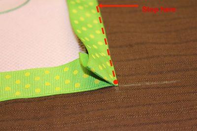 Trimming Ribbon Edge Of Fabric
