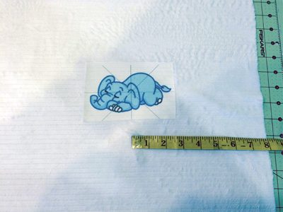 measuring embroidery design