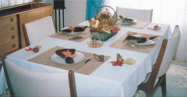 3d embroidery fall table decor