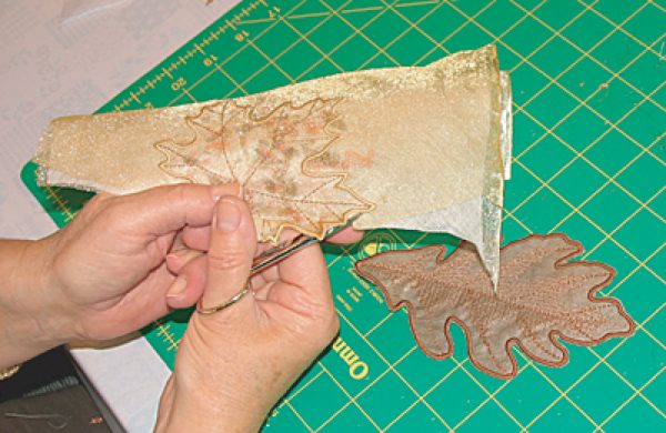 cutting 3d embroidery organza