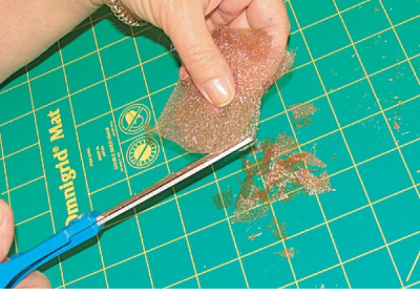 how to cut organza