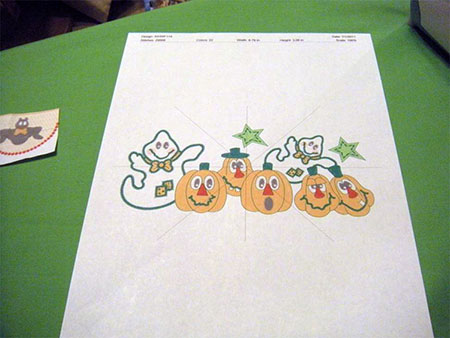 embroidery pumpkins for easy halloween trick or treat bag