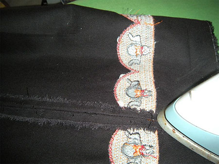 stitching easy halloween trick or treat bag