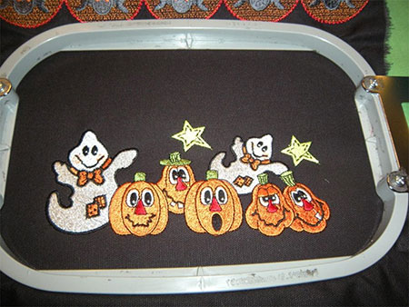stitching embroidery design for easy trick or treat bag