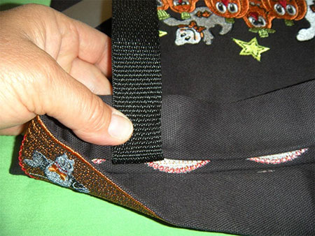 strap diy halloween trick or treat bag