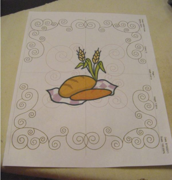 bread basket embroidery template