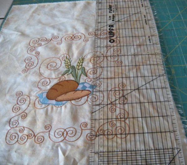trim fabric for embroidery