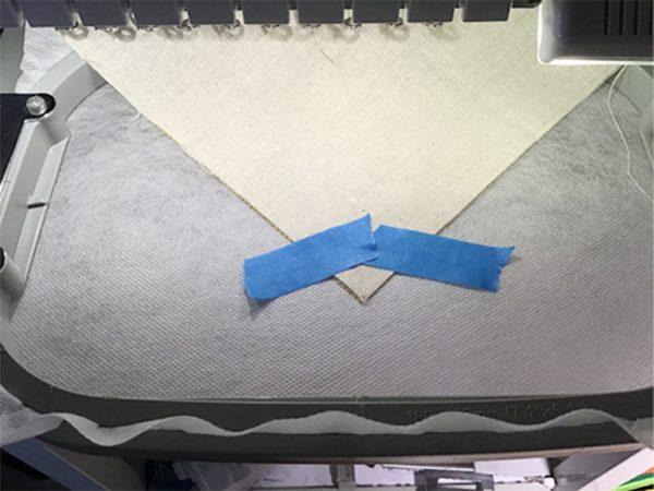 tape napkin for cutwork