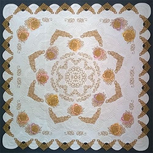 ASPM042 lace trim quilt