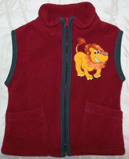 fringe lion vest