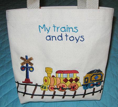 train set tote front