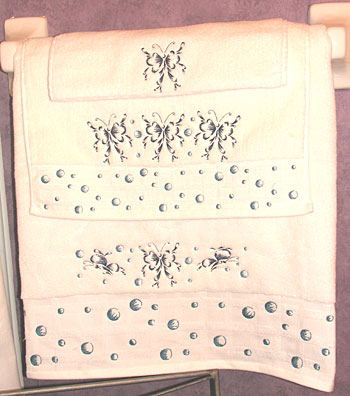 butterflies and bubble towel