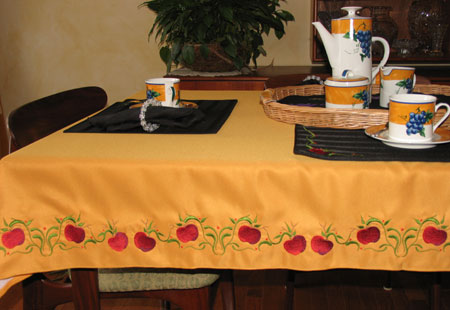 fruit collection table cloth
