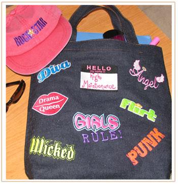 girls sayings bag