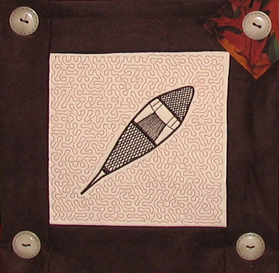 snowshoe northern quilt piece