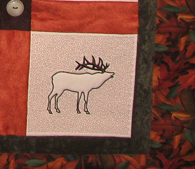 elk northern quilt piece