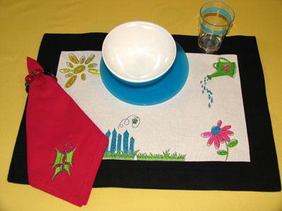 spring fling napkin placemat