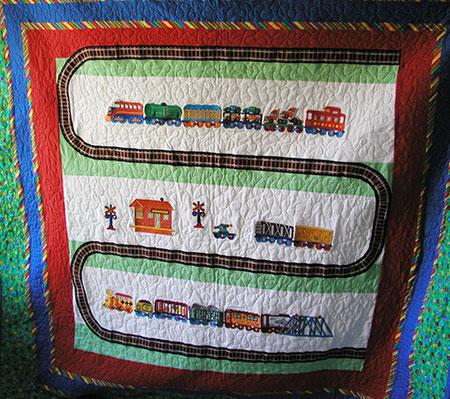 train set quilt