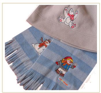 christmas globe scarf