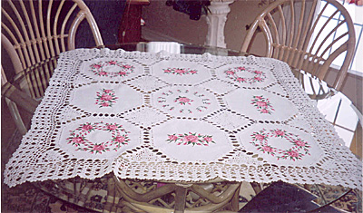 english rose tablecloth