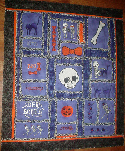 spooktacular skeletons wall hanging