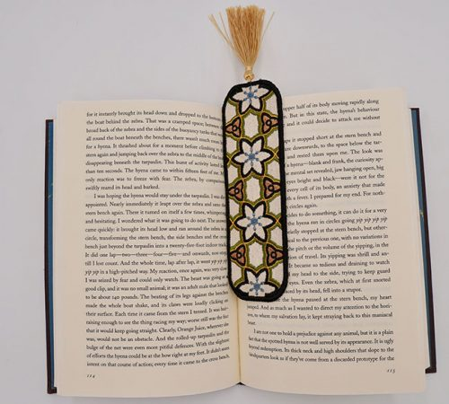 How to embroider a in-the-hoop bookmark