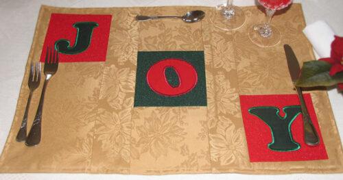 christmas alphabet placemat