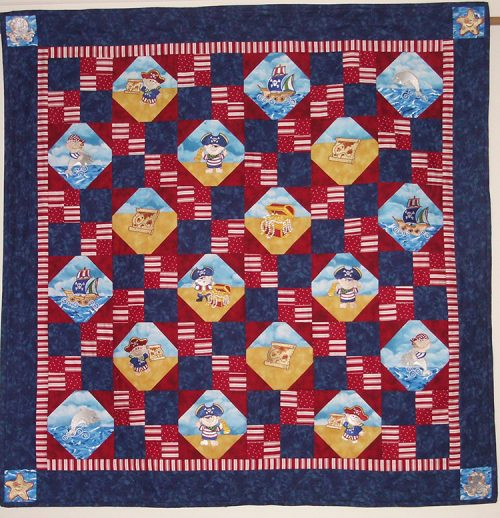 pirate kids quilt