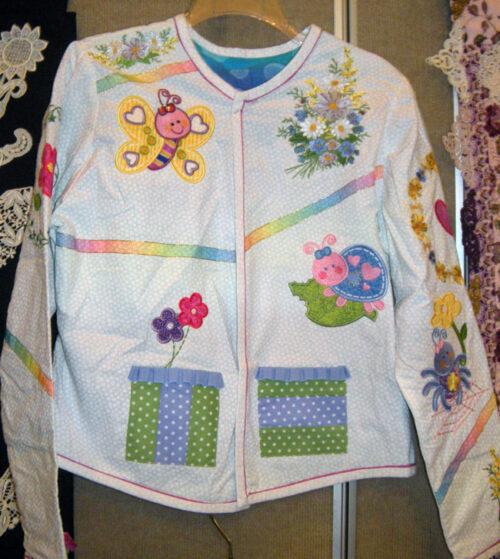 adorable bugs applique jacket