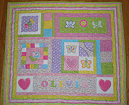 adorable bugs quilt