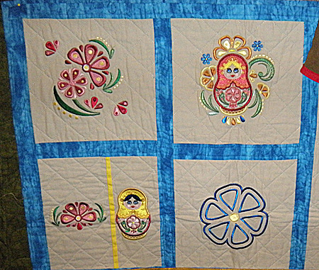 russian folk art quilt
