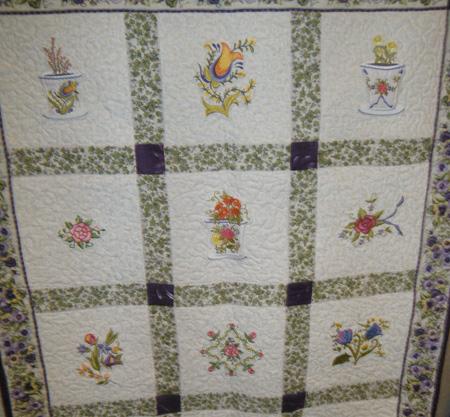 aunt ilse flowers quilt