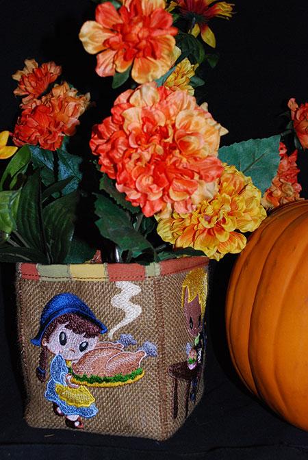 pilgrim thanksgiving girl